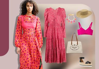 多层次穿衣法则--女装连衣裙组货搭配