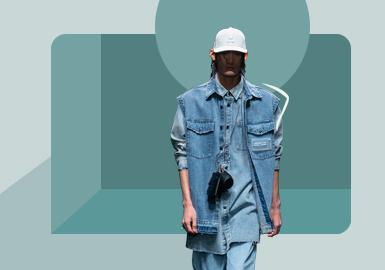 靛蓝记忆--男装牛仔廓形趋势