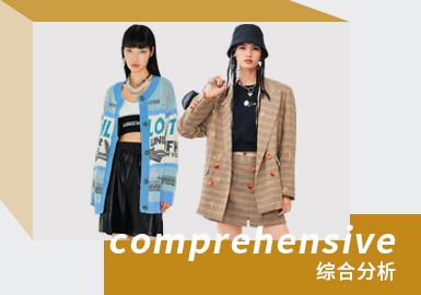 """目前国内的少淑女品牌当中DAZZLE、d'zzit、Ochirly及MO&Co.为市场中重要的女装少淑风格参考品牌,而JOY by LILY、PEACEBIRD、JESSYLINE也同样受到欢迎。本次报告款式提取以线上春款为主。少淑风格是女装中占比最多的风格,小编从款式风格特点角度出发,将其分为""""甜美少淑""""、""""韩系学院""""、""""国潮少女""""、""""街头甜酷""""四大类,并做代表品牌推荐。本文选取少淑风格""""街头甜酷""""做重点品牌推荐和设计点提炼。"""
